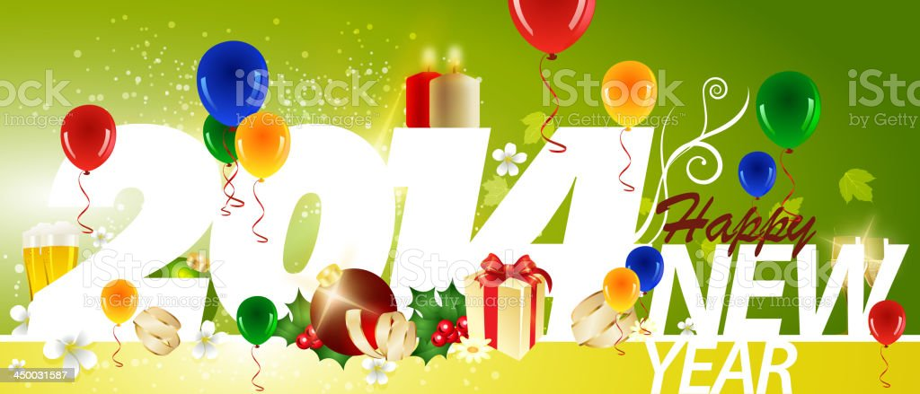 Happy New Year Background royalty-free stock vector art