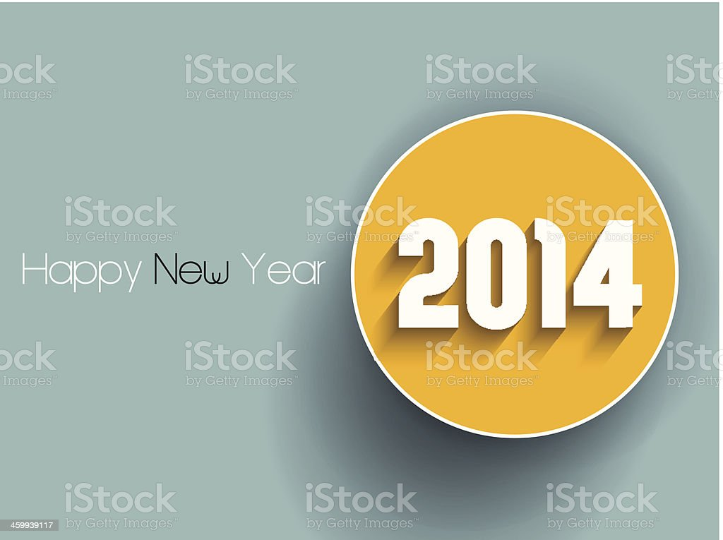 Happy New Year background vector art illustration