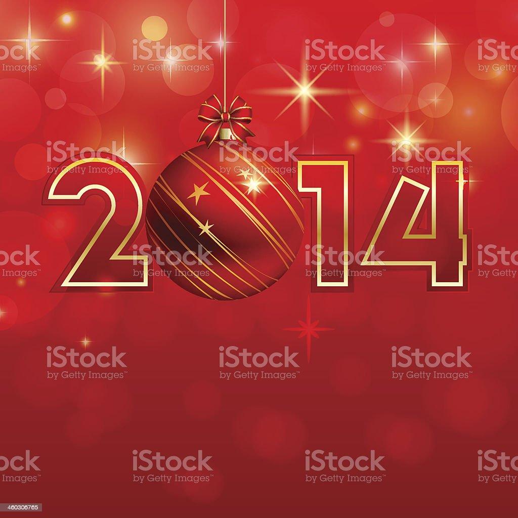Feliz ano novo fundo de Natal com bauble vetor e ilustração royalty-free royalty-free