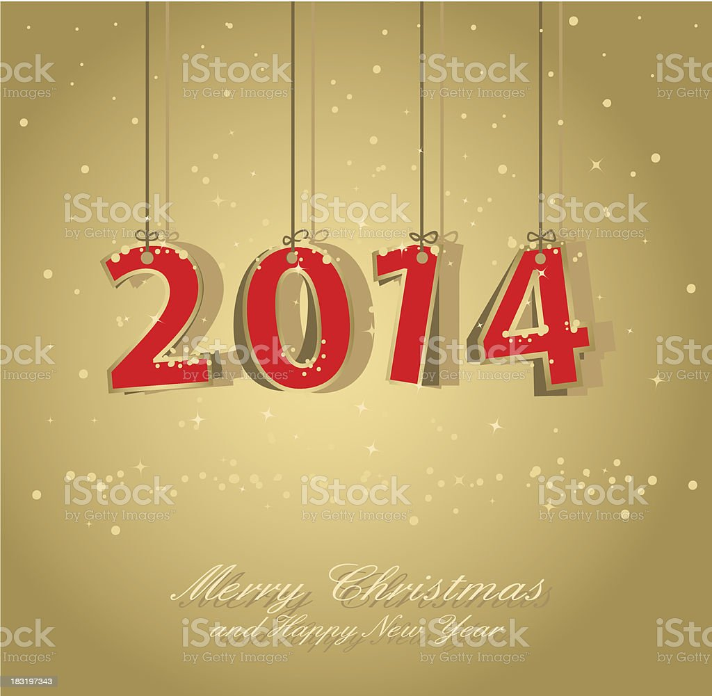 happy new year card royalty-free stock vector art