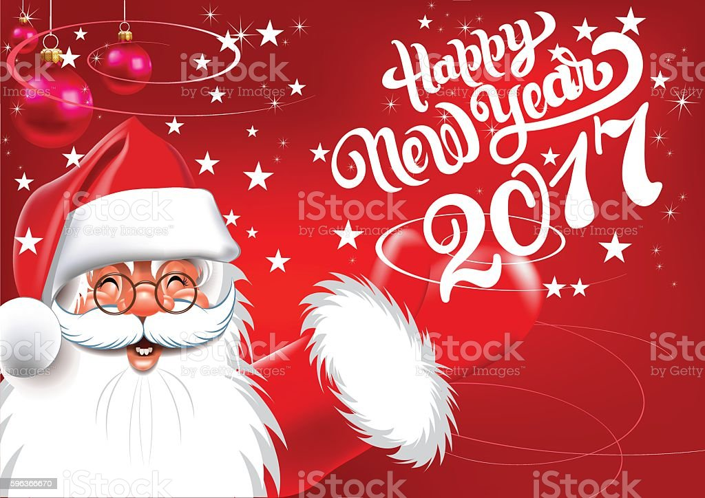 Happy New Year Card vector art illustration