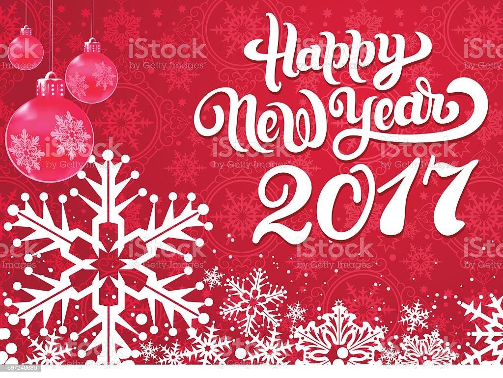 Happy New Year Card Vector vector art illustration