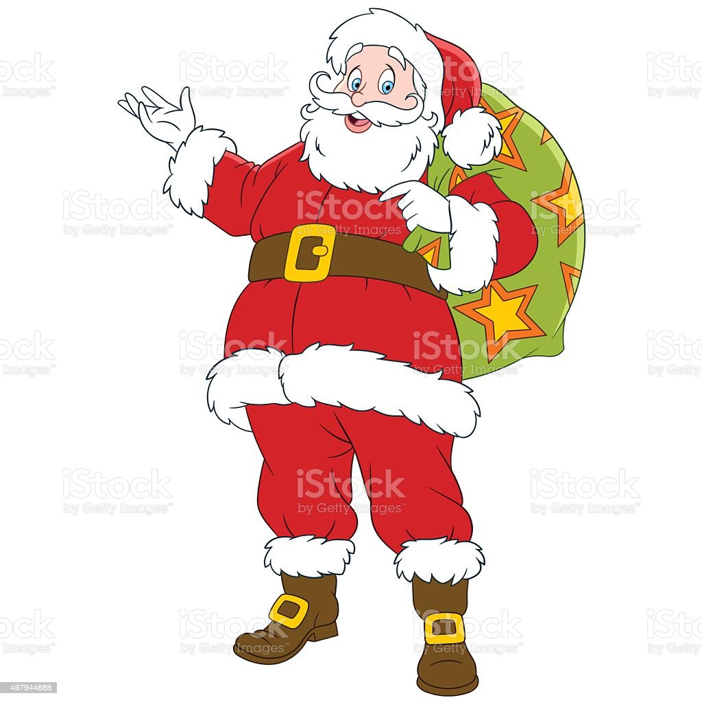 Happy new year cartoon santa claus stock vector art