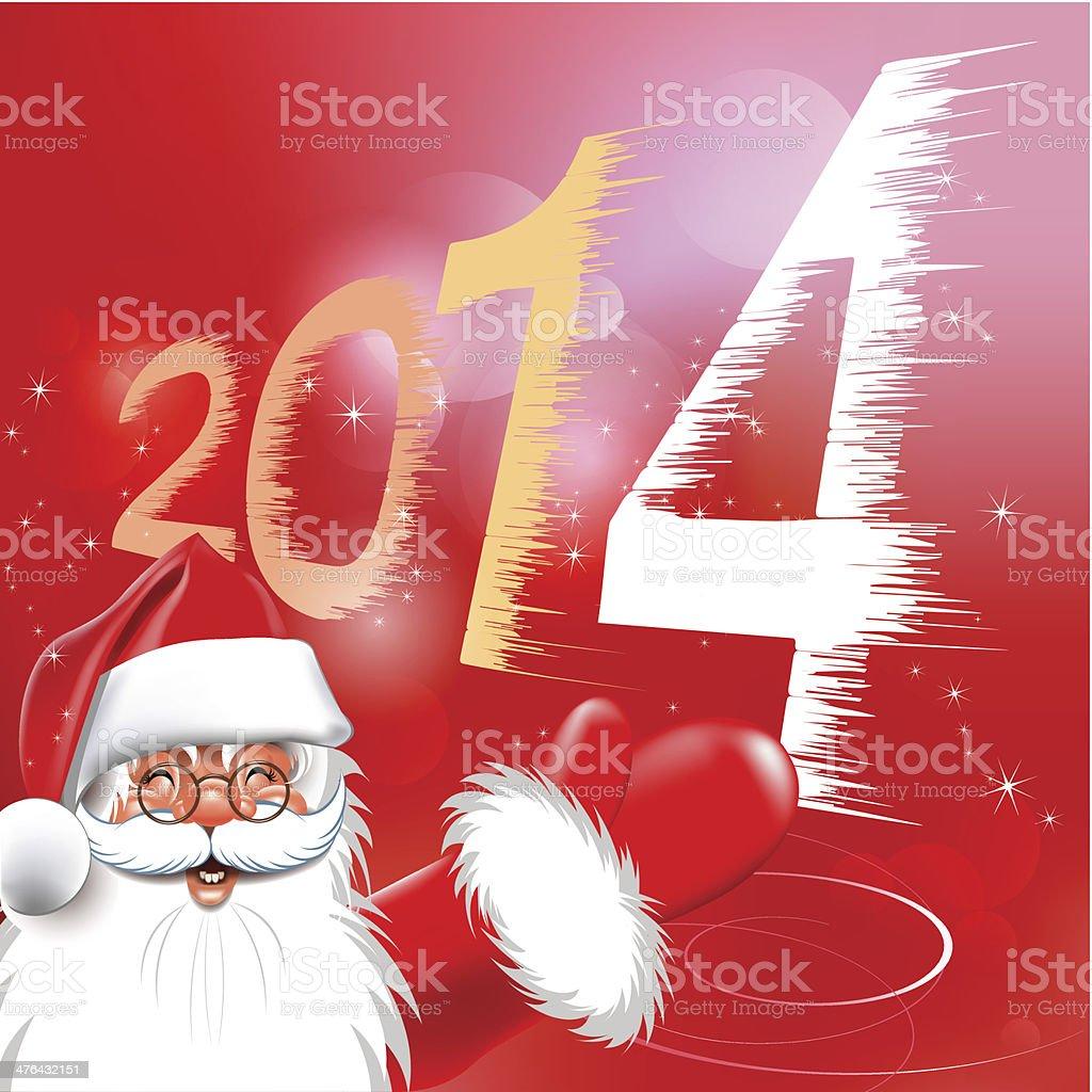 Happy new year. Christmas Background. Merry Santa Claus. royalty-free stock vector art