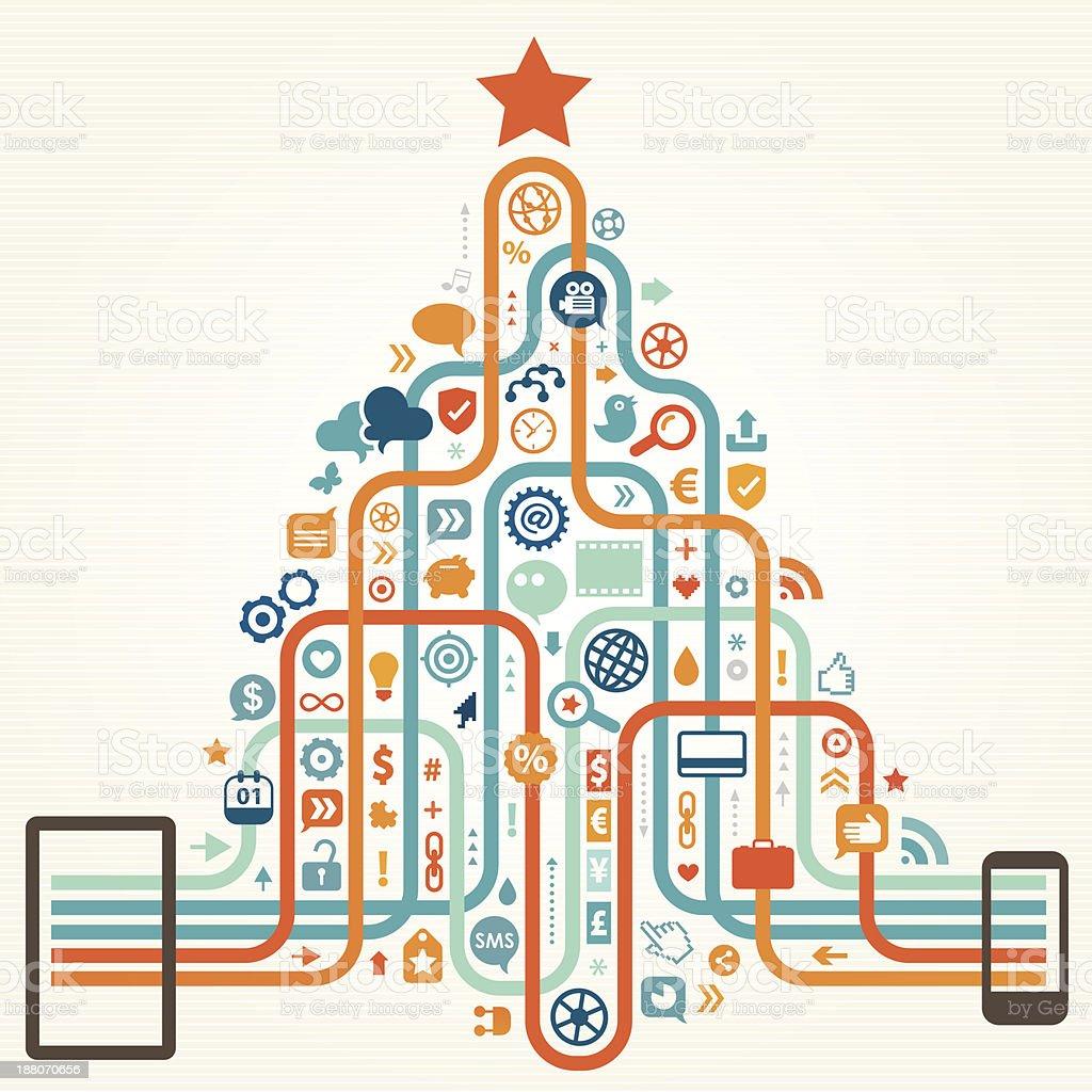 Happy New Year Communications vector art illustration