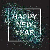 Happy New Year. Composition with glitter in the frame
