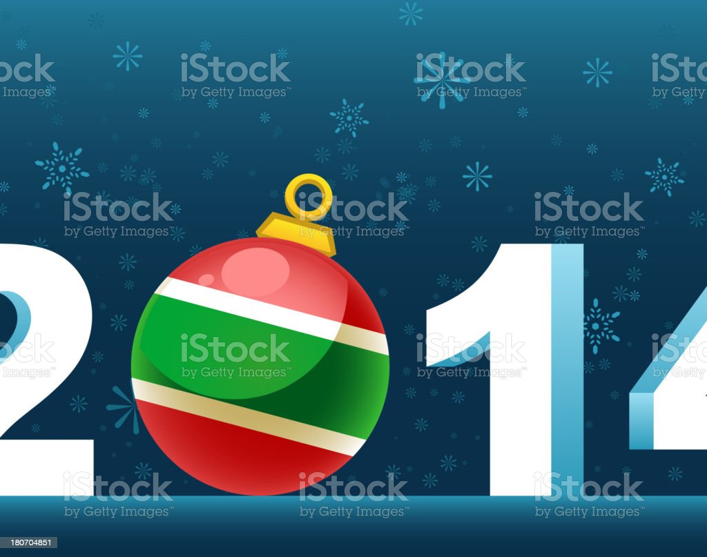Happy New Year Eve 2014 royalty-free stock vector art