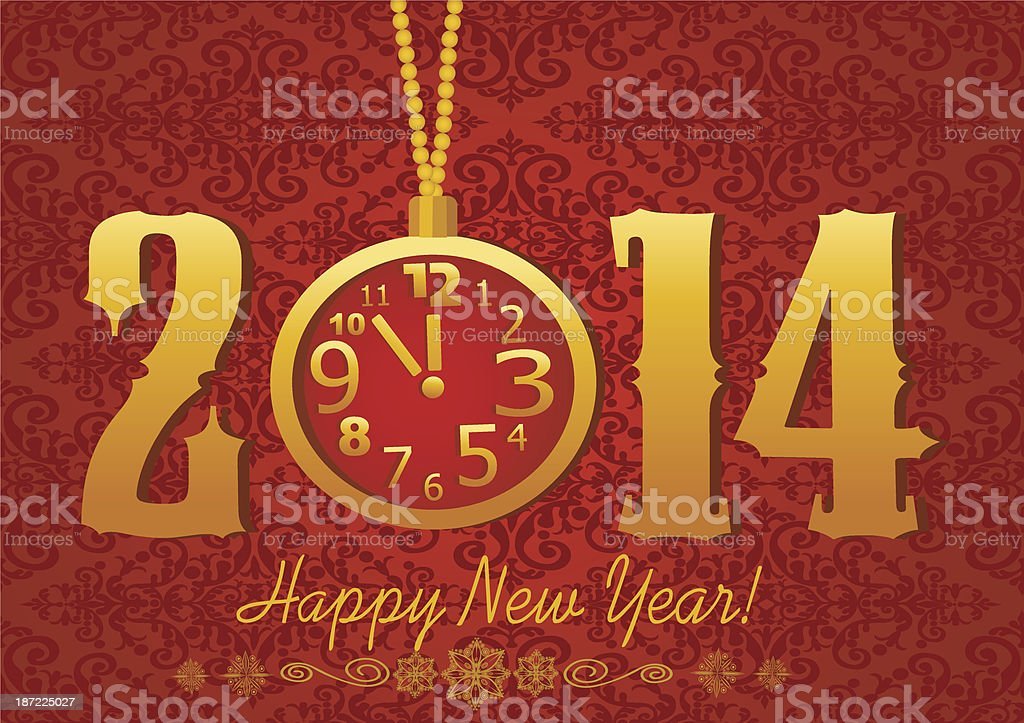 Happy New Year greeting card royalty-free stock vector art