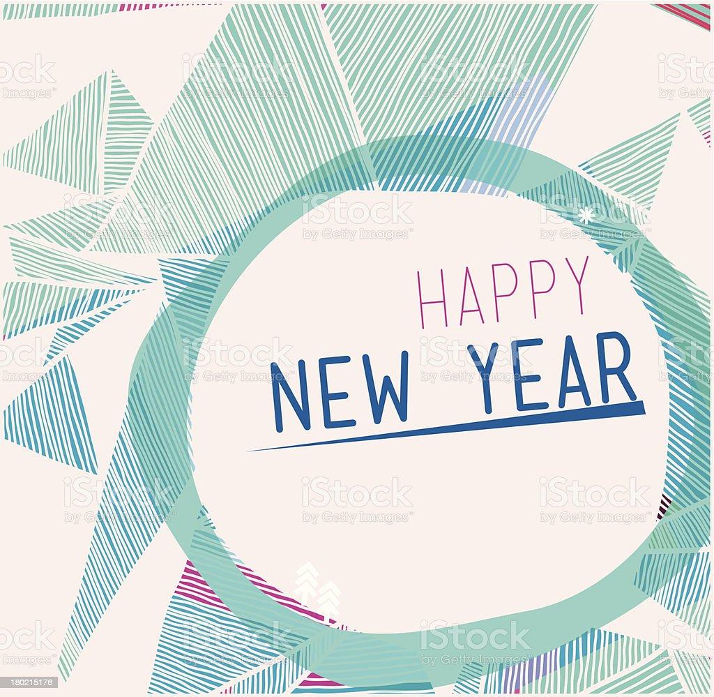 Happy new year of 2014 royalty-free stock vector art