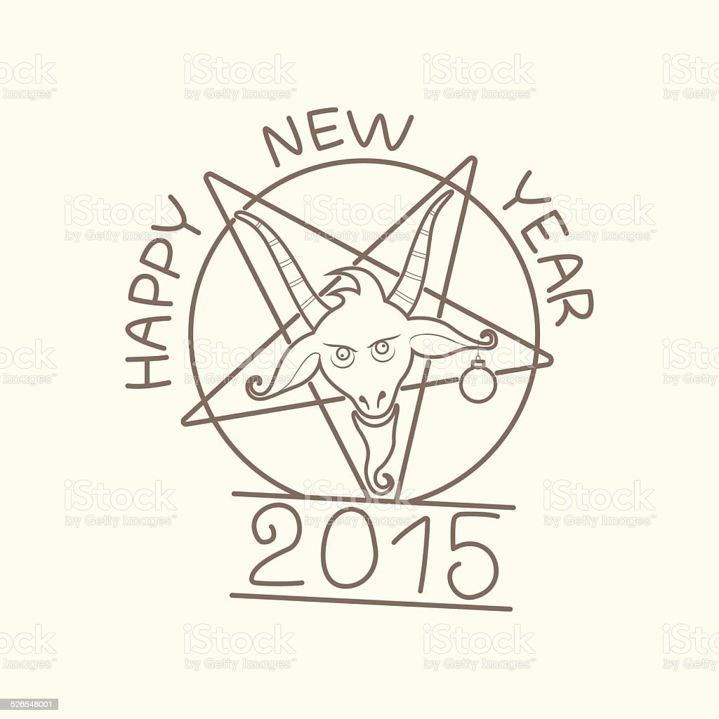 happy new year of the goat royalty free stock vector art