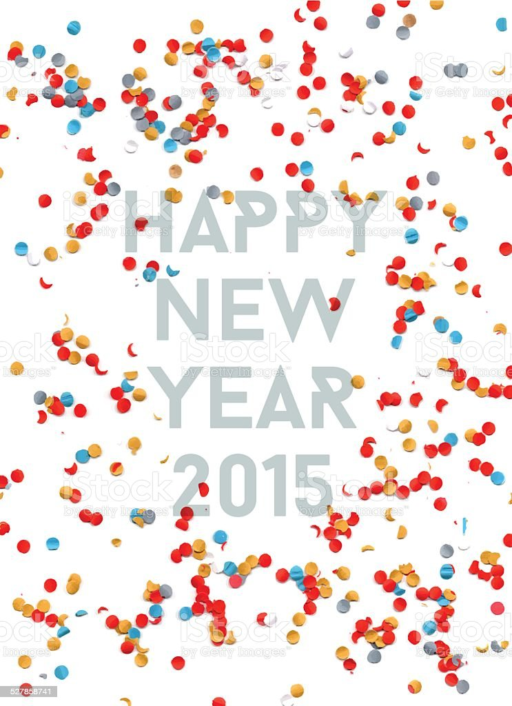 Happy New year party 2015 confetti background vector art illustration