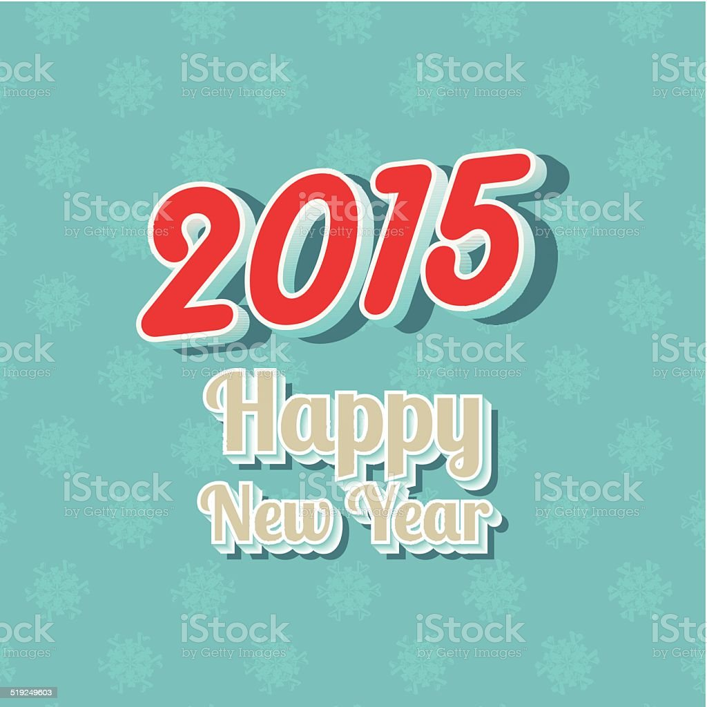 Happy New Year typography background vector art illustration