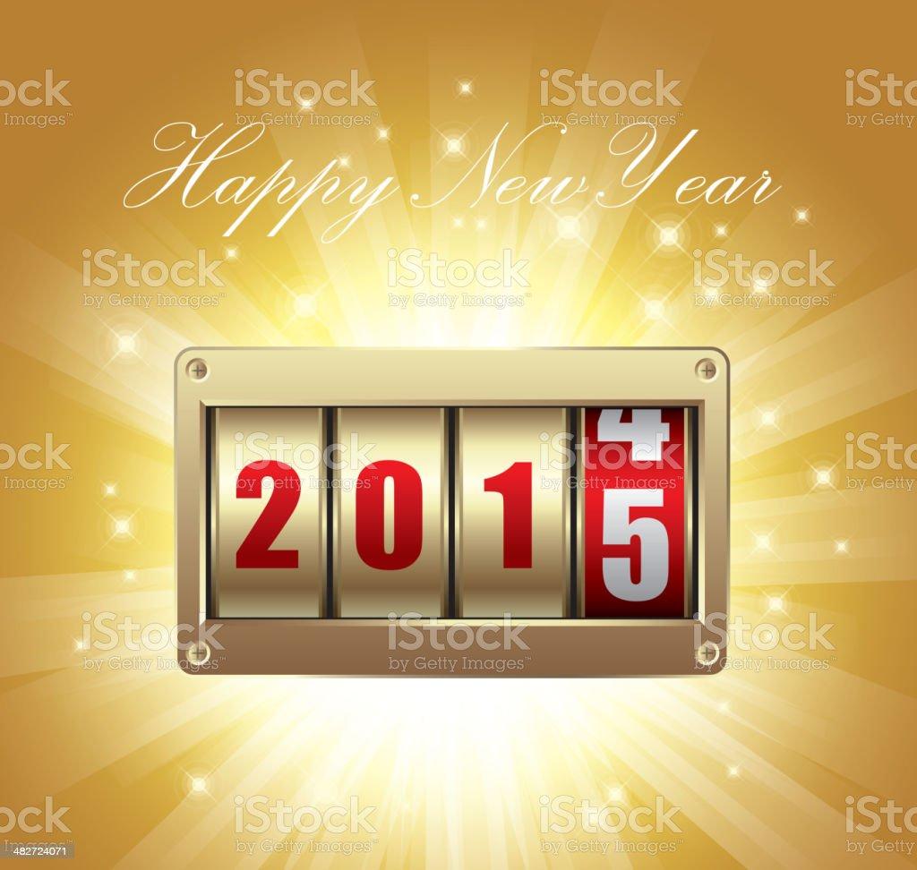 Happy new year (2015) royalty-free stock vector art
