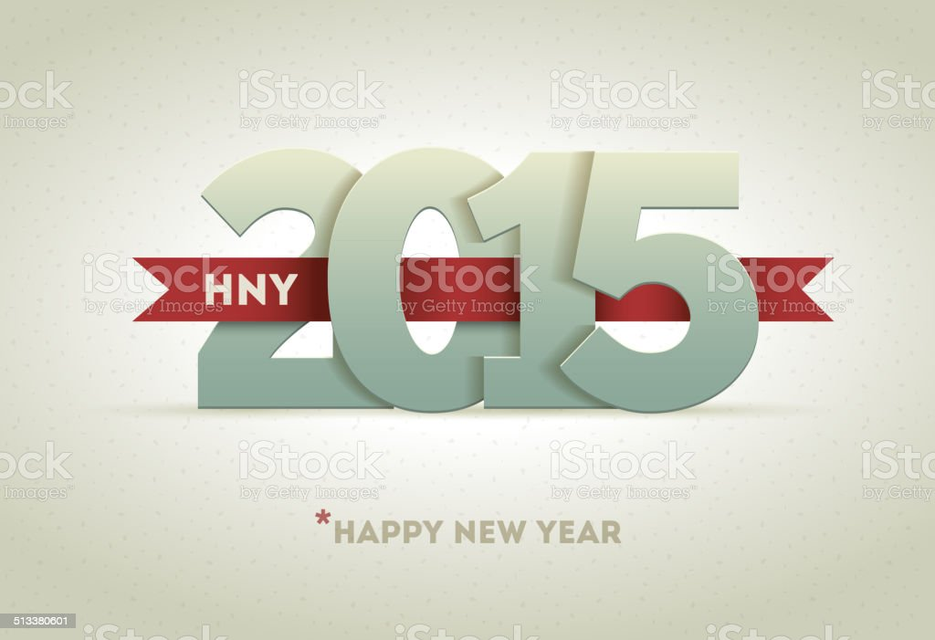2015 Happy New Year vector art illustration