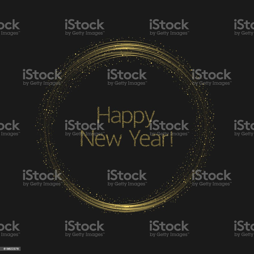 Happy New Year vector art illustration