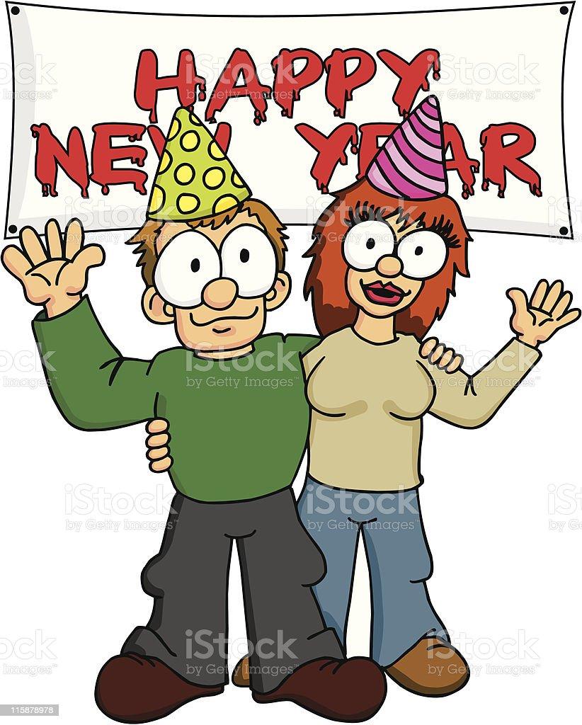 Happy New Years 1 royalty-free stock vector art