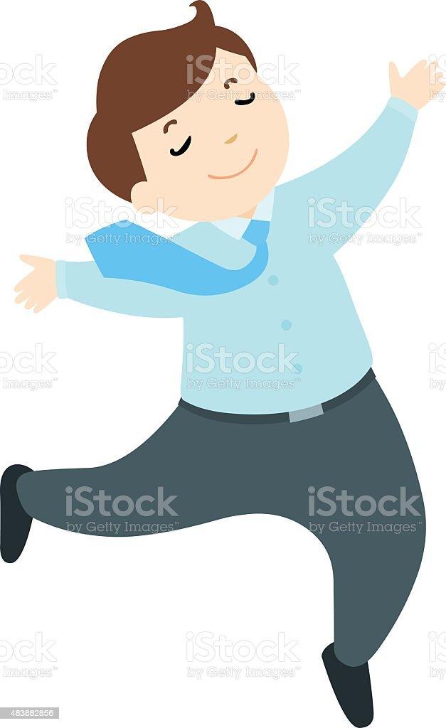 happy officer on white background vector vector art illustration