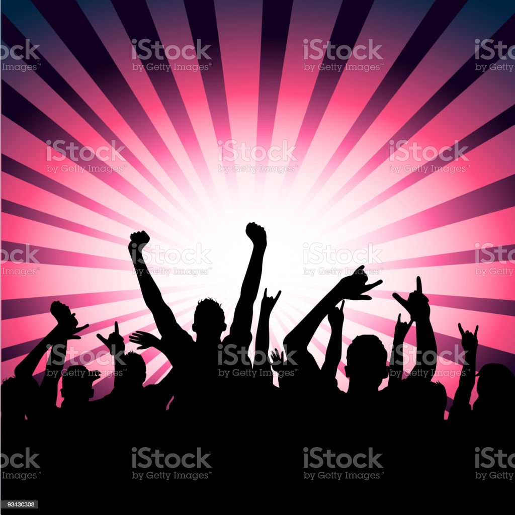 Happy Party Crowd! royalty-free stock vector art
