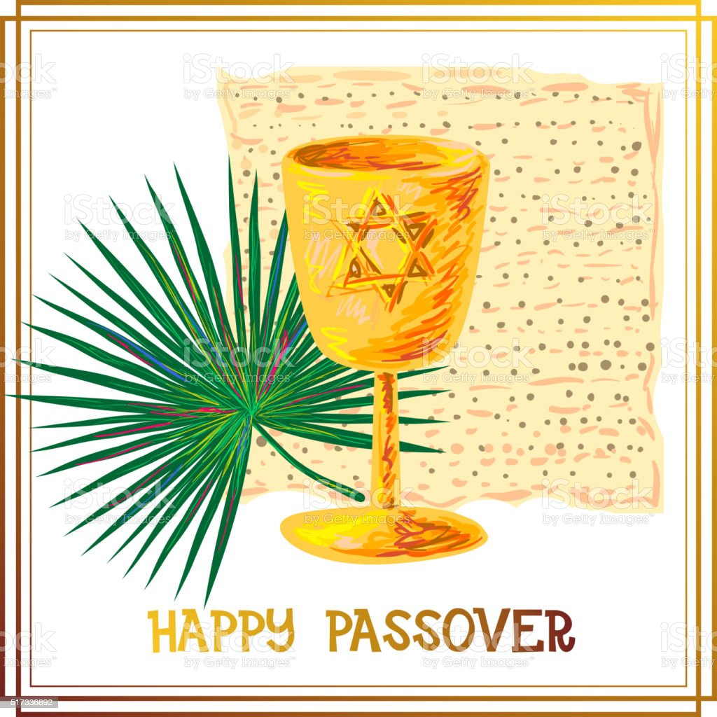 Happy Passover background vector art illustration