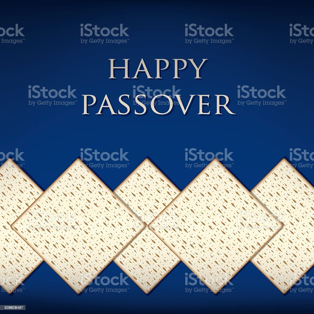 Happy Passover card in vector format. vector art illustration