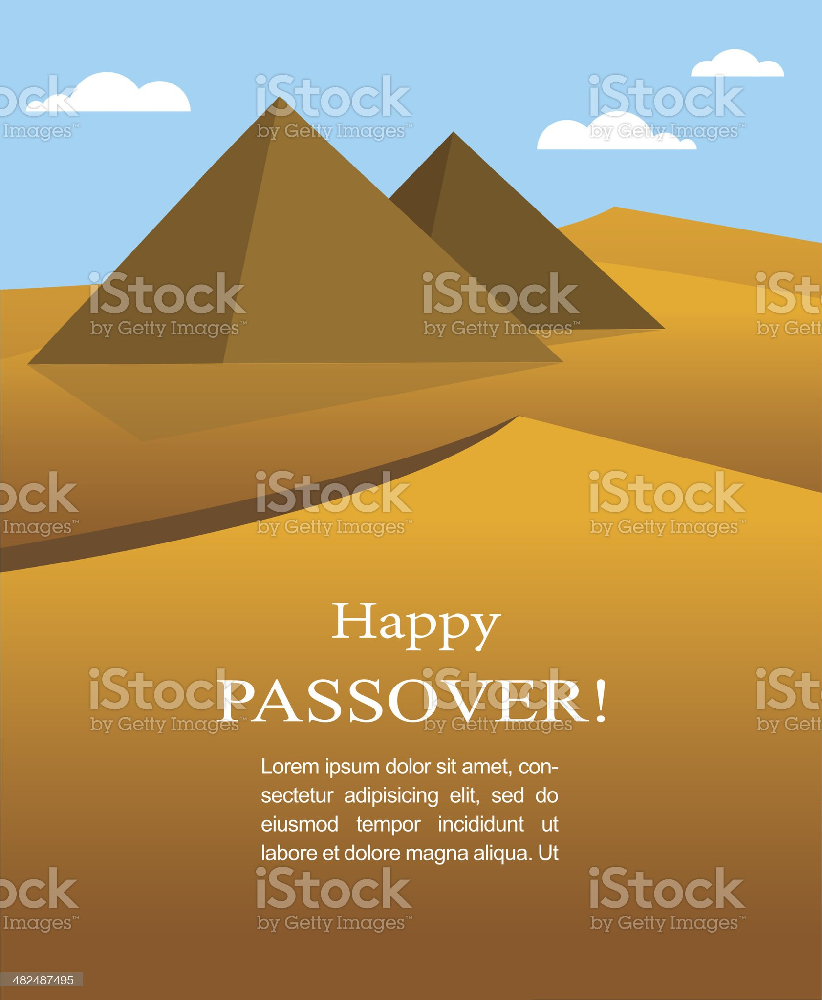 happy Passover- Out of the Jews from Egypt royalty-free stock vector art