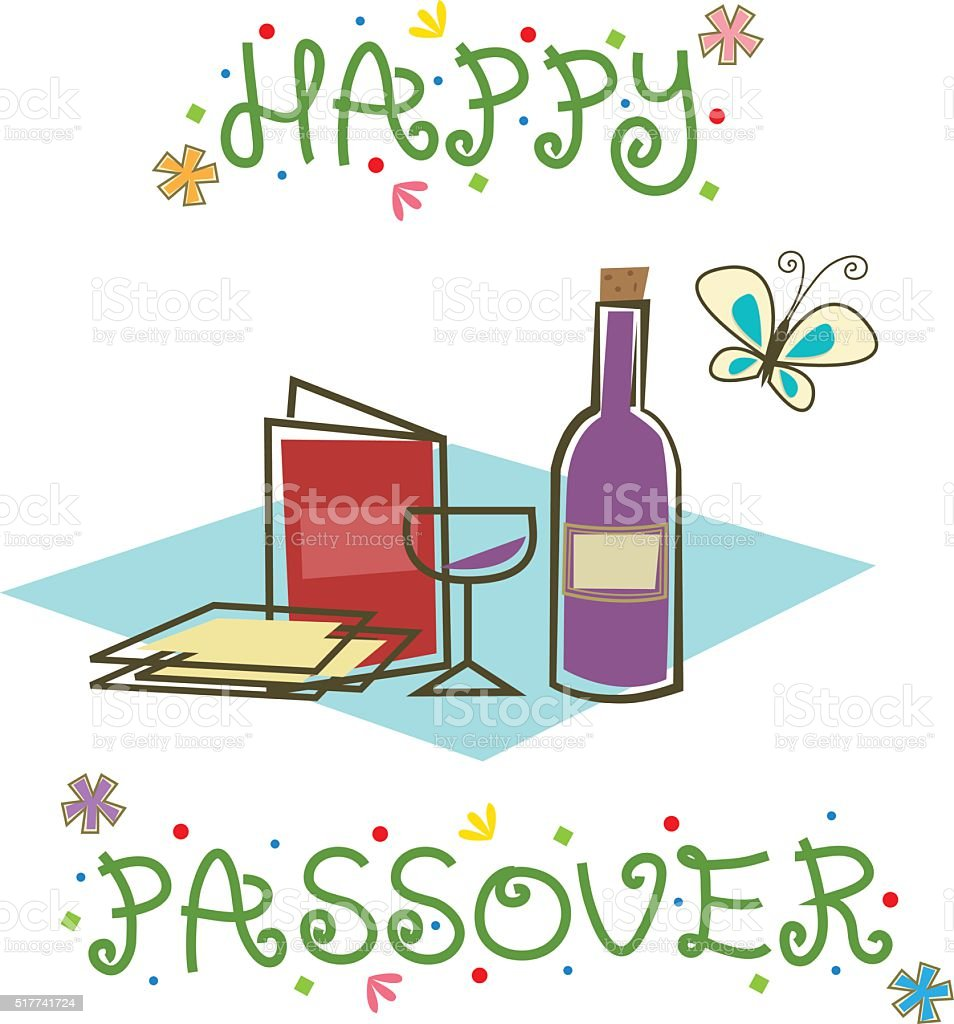 Happy Passover Sign vector art illustration