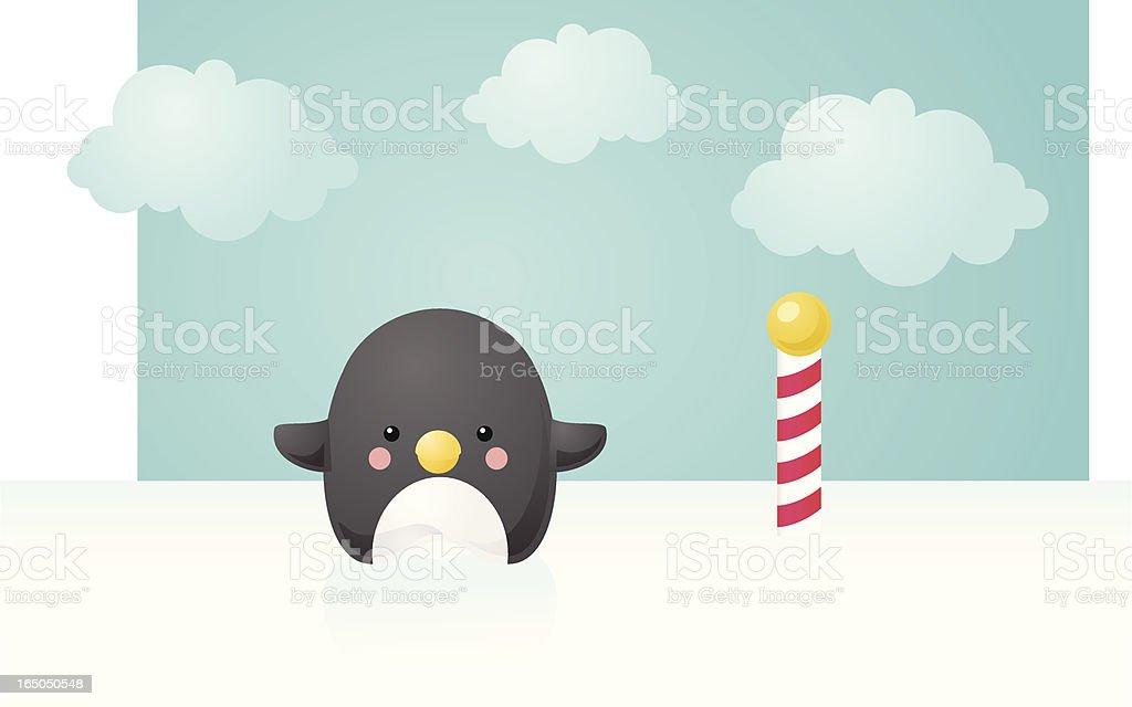 happy penguin royalty-free stock vector art