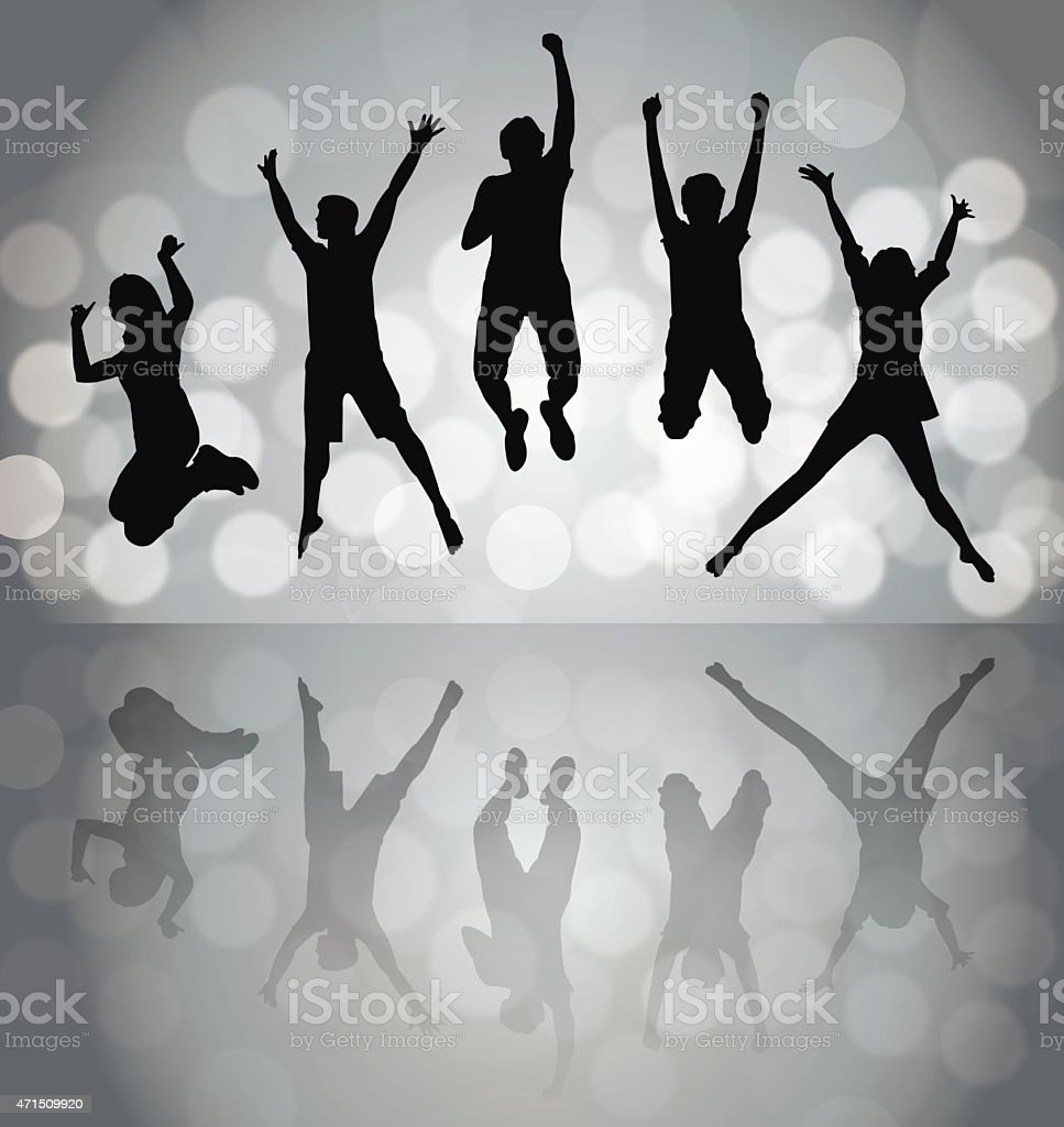 Happy People vector art illustration