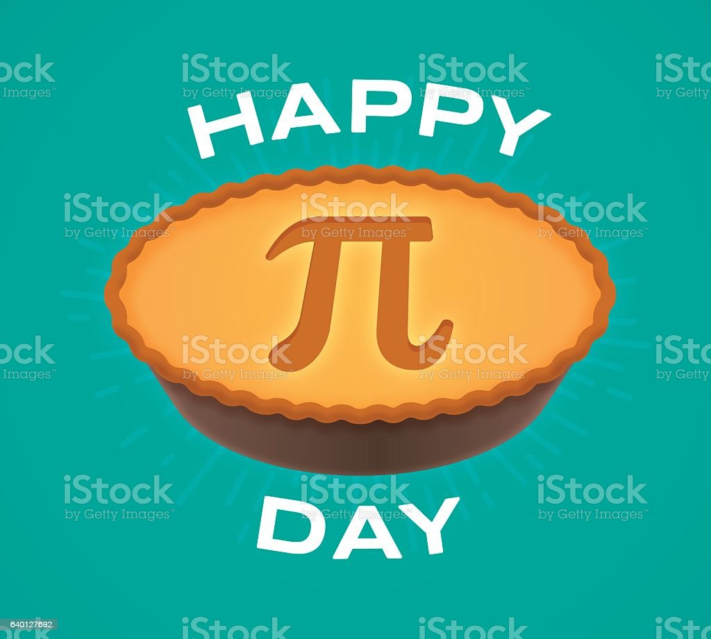 Happy Pi Day vector art illustration