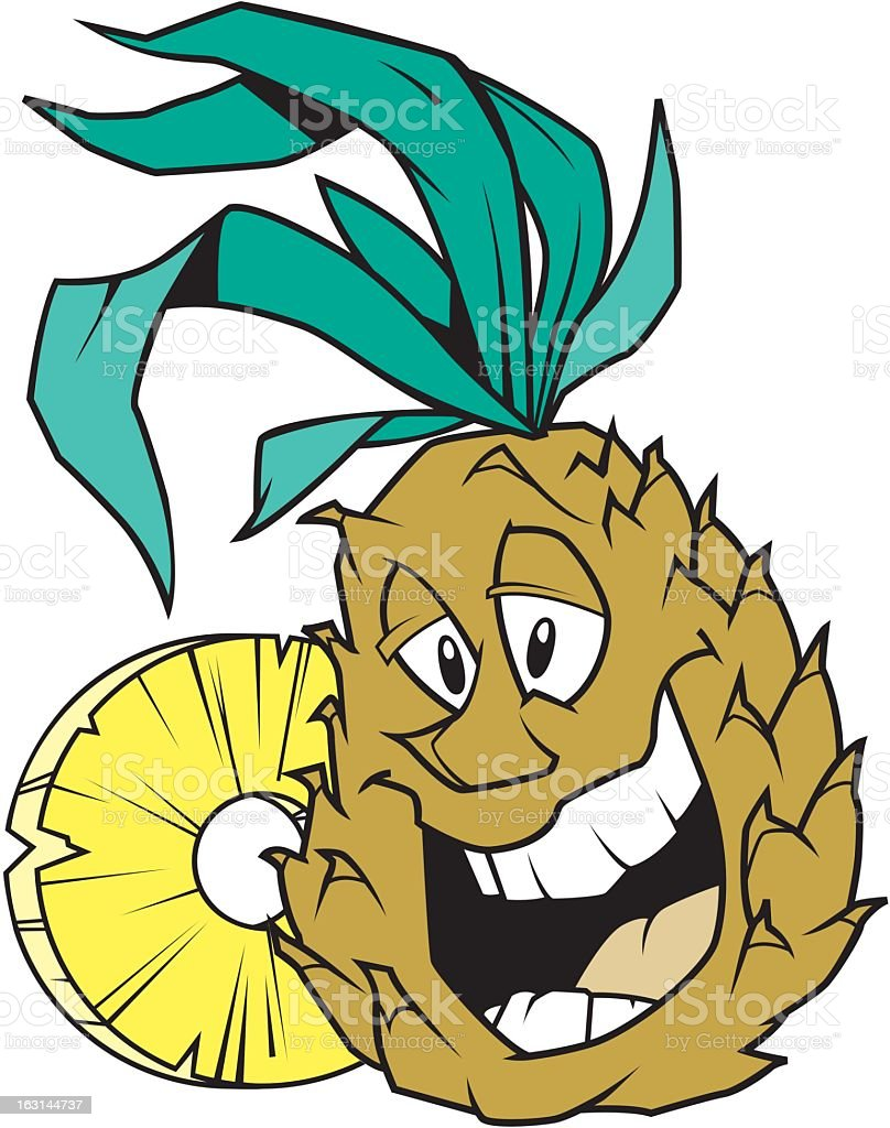 Happy Pineapple royalty-free stock vector art