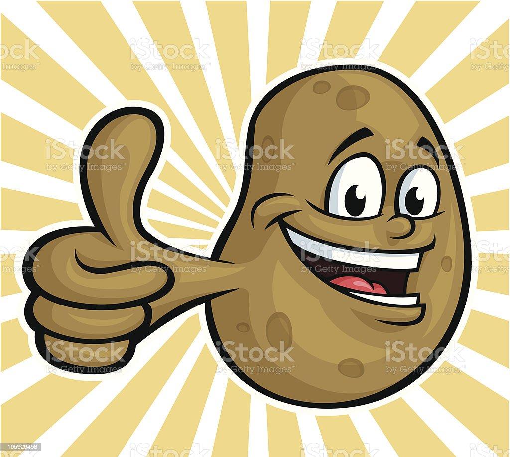 Happy Potato vector art illustration