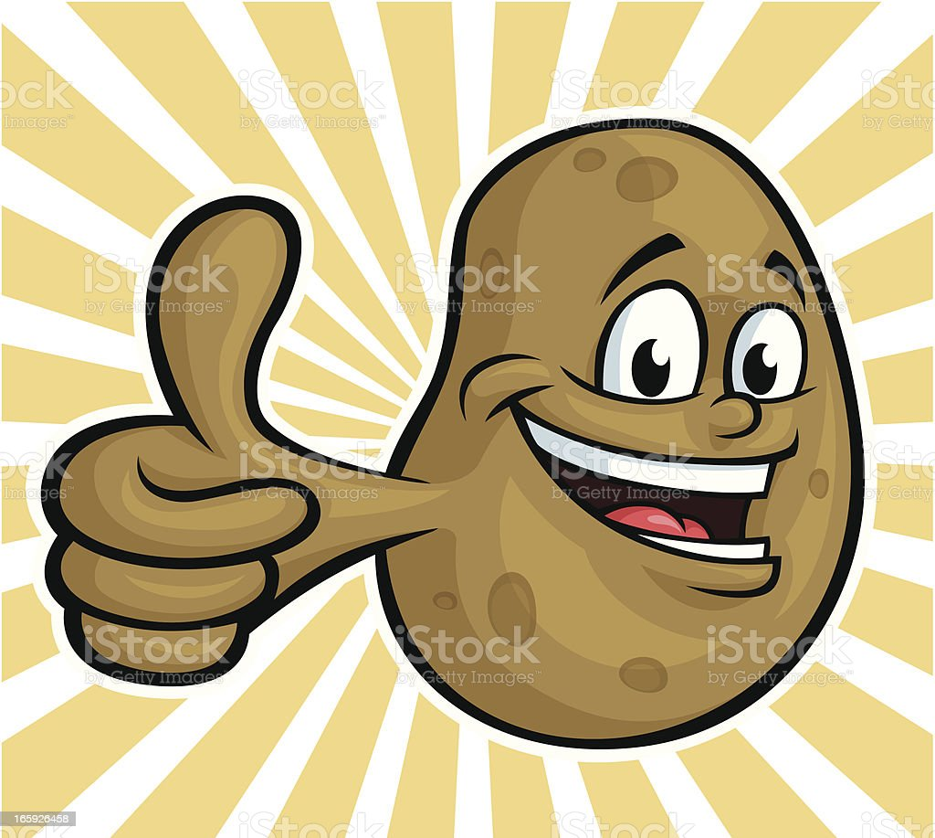 Happy Potato vector art illustration