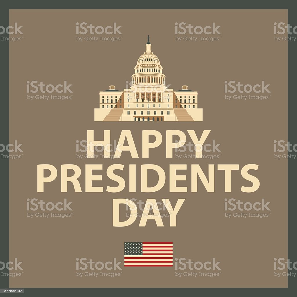 Happy President Day vector art illustration