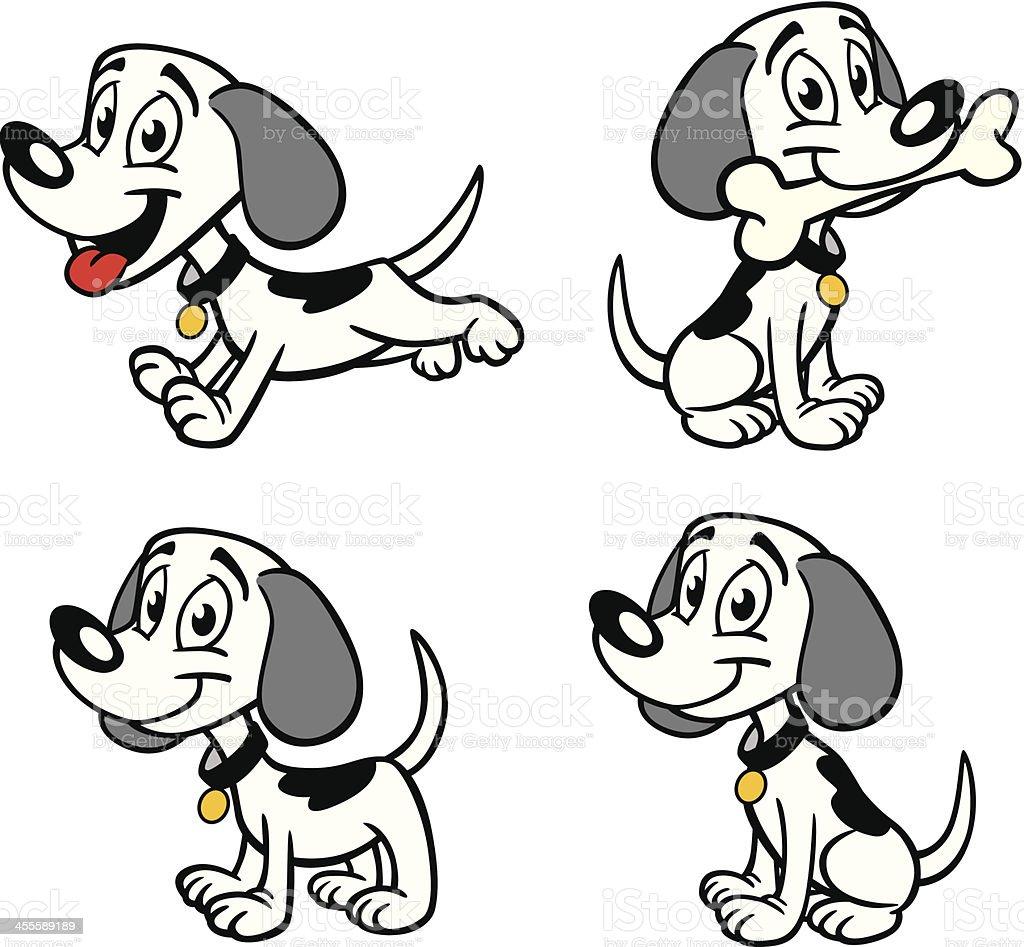 Happy Puppy vector art illustration