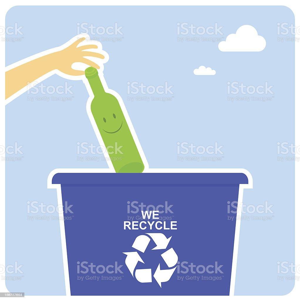 Happy recycling royalty-free stock vector art