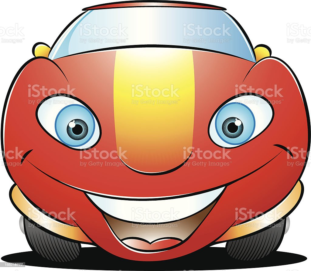 happy red car royalty-free stock vector art