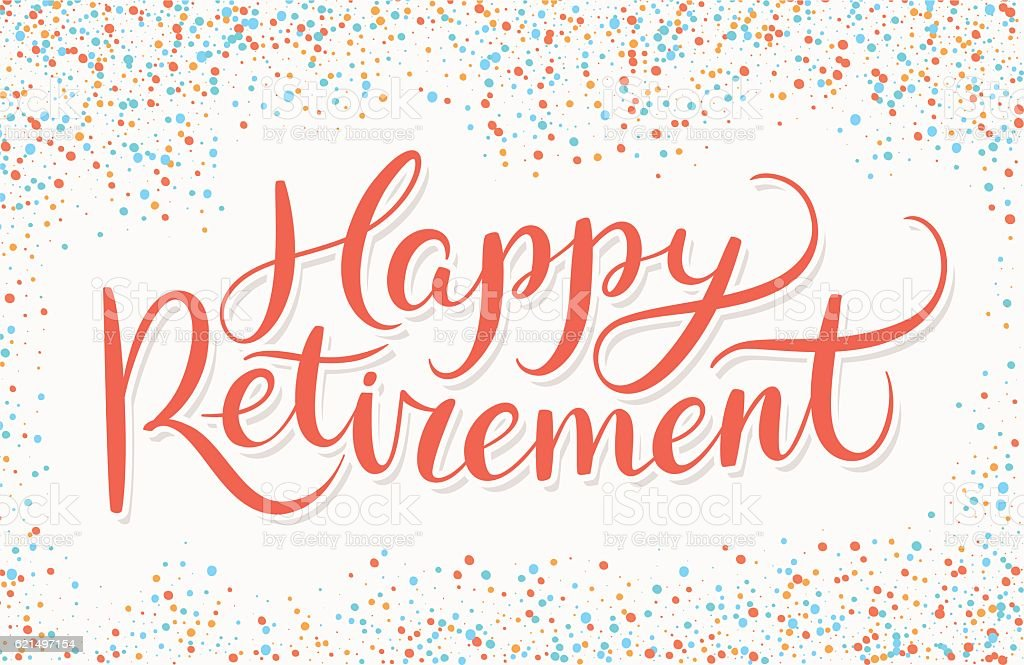 Happy Retirement banner. vector art illustration