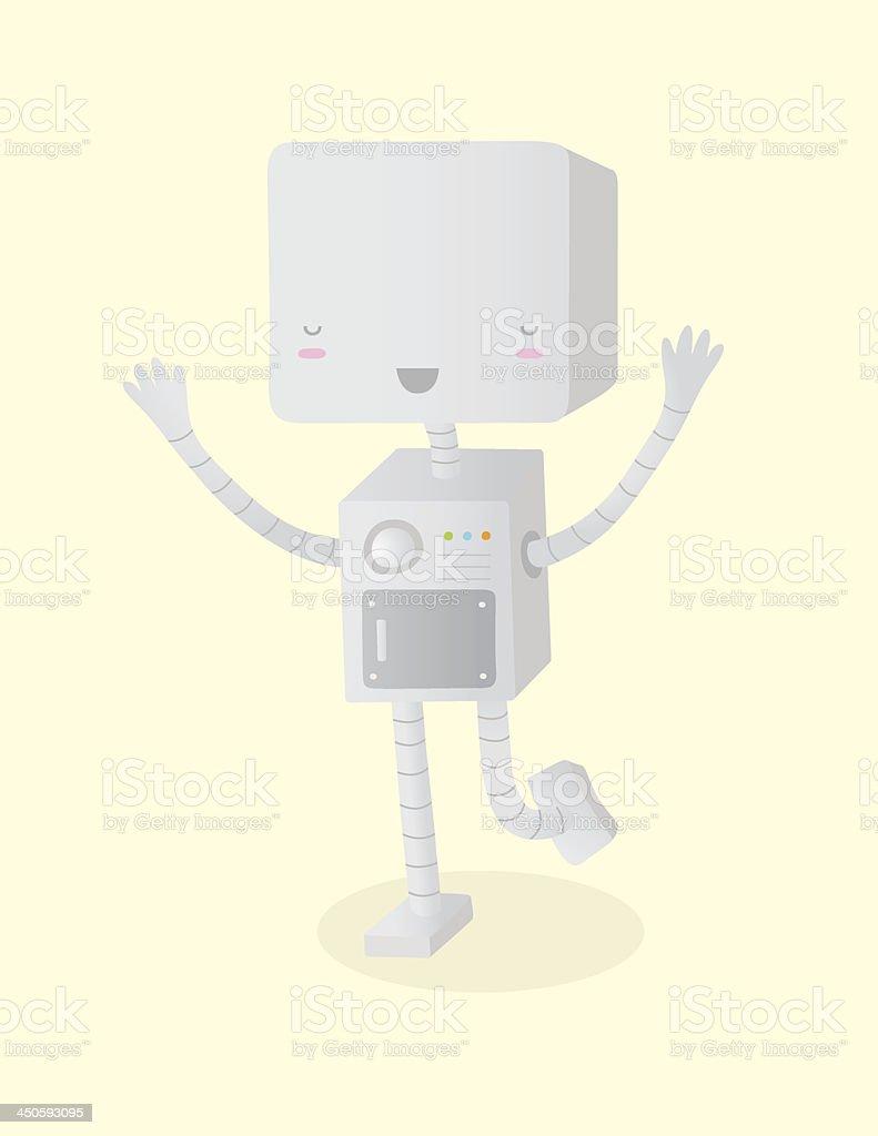 Happy Robot royalty-free stock vector art