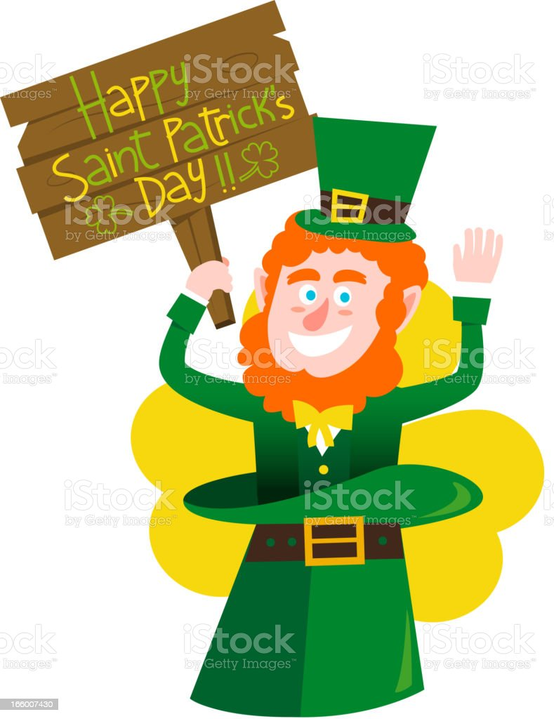 Happy Saint Patricks Banner royalty-free stock vector art