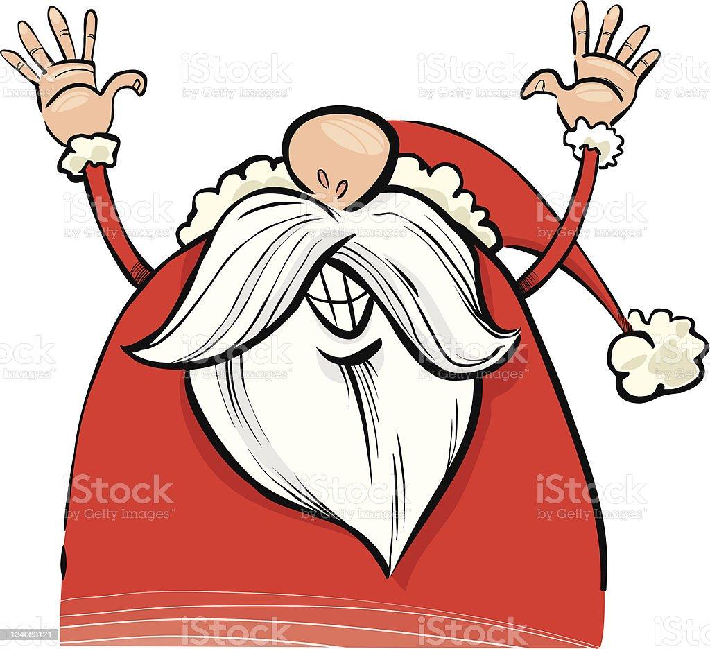 happy santa claus royalty-free stock vector art