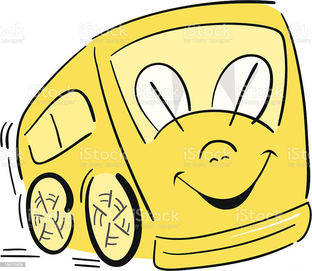 Happy School Bus Illustration royalty-free stock vector art
