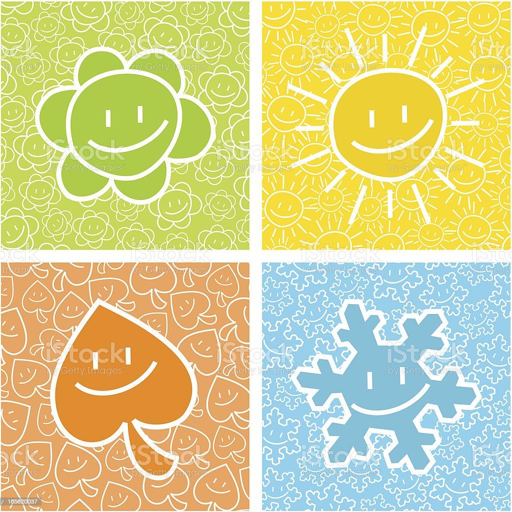Happy seasons royalty-free stock vector art