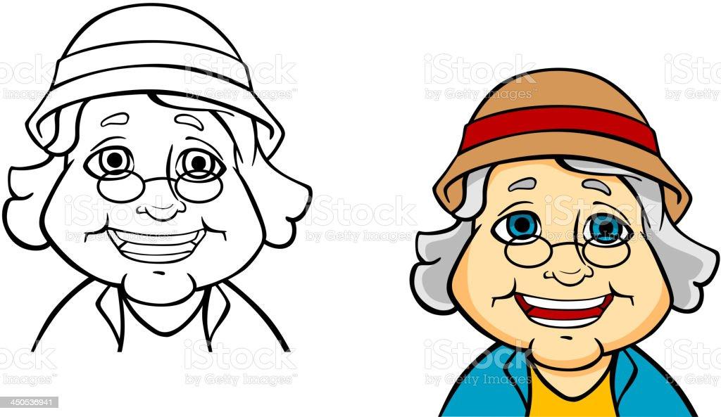 Happy senior grandmother royalty-free stock vector art