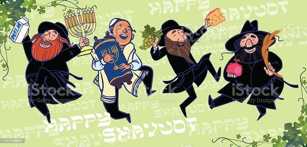 Happy Shavuot. Jewish holiday card. vector vector art illustration