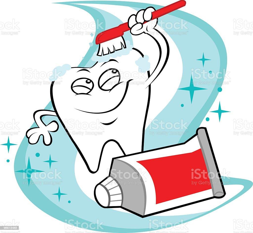 Happy shiny tooth royalty-free stock vector art