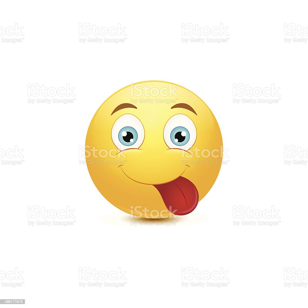 Happy smiley face vector art illustration