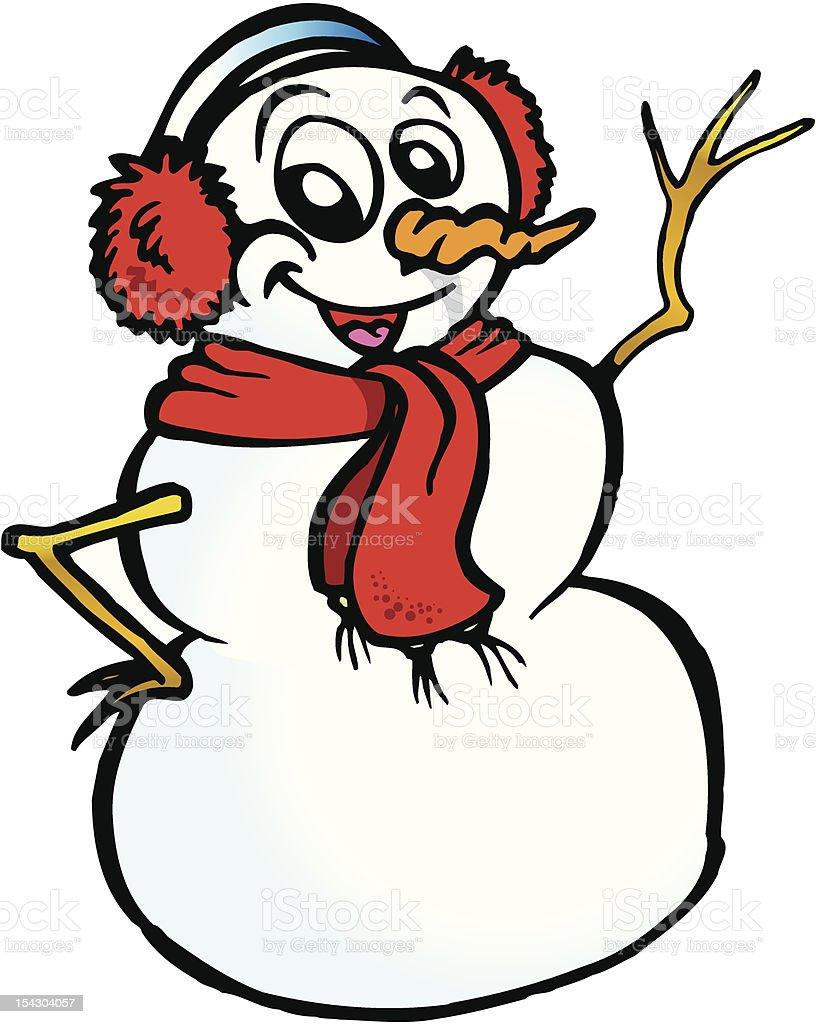 Happy Snowman royalty-free stock vector art