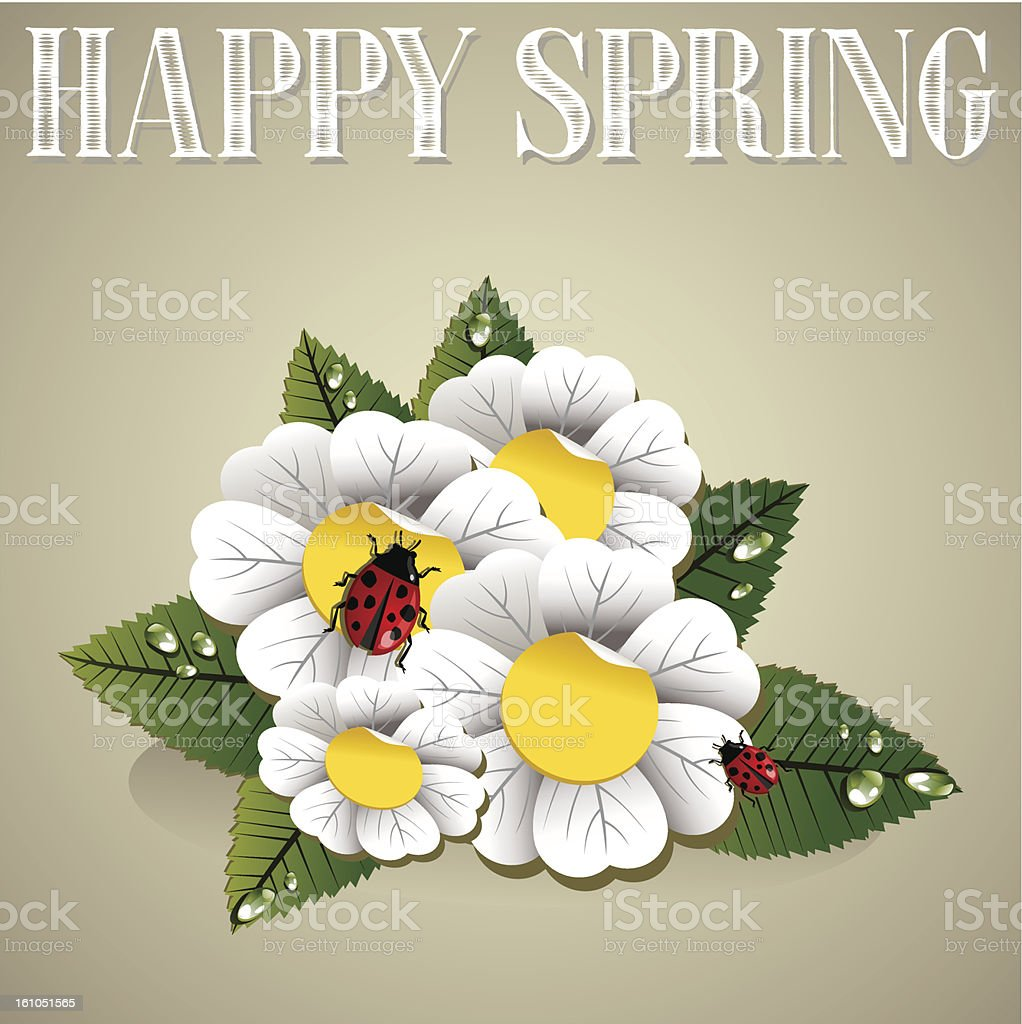Happy spring background royalty-free stock vector art