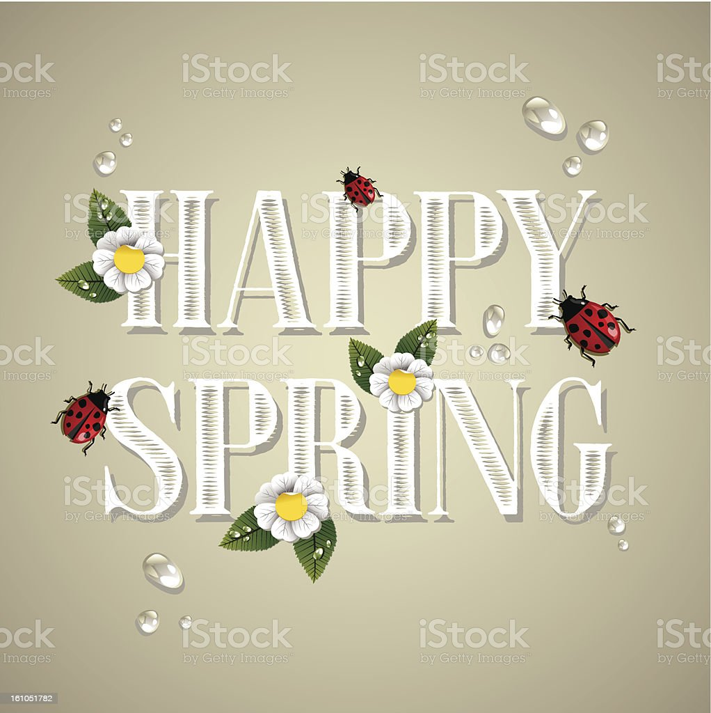 Happy spring composition royalty-free stock vector art