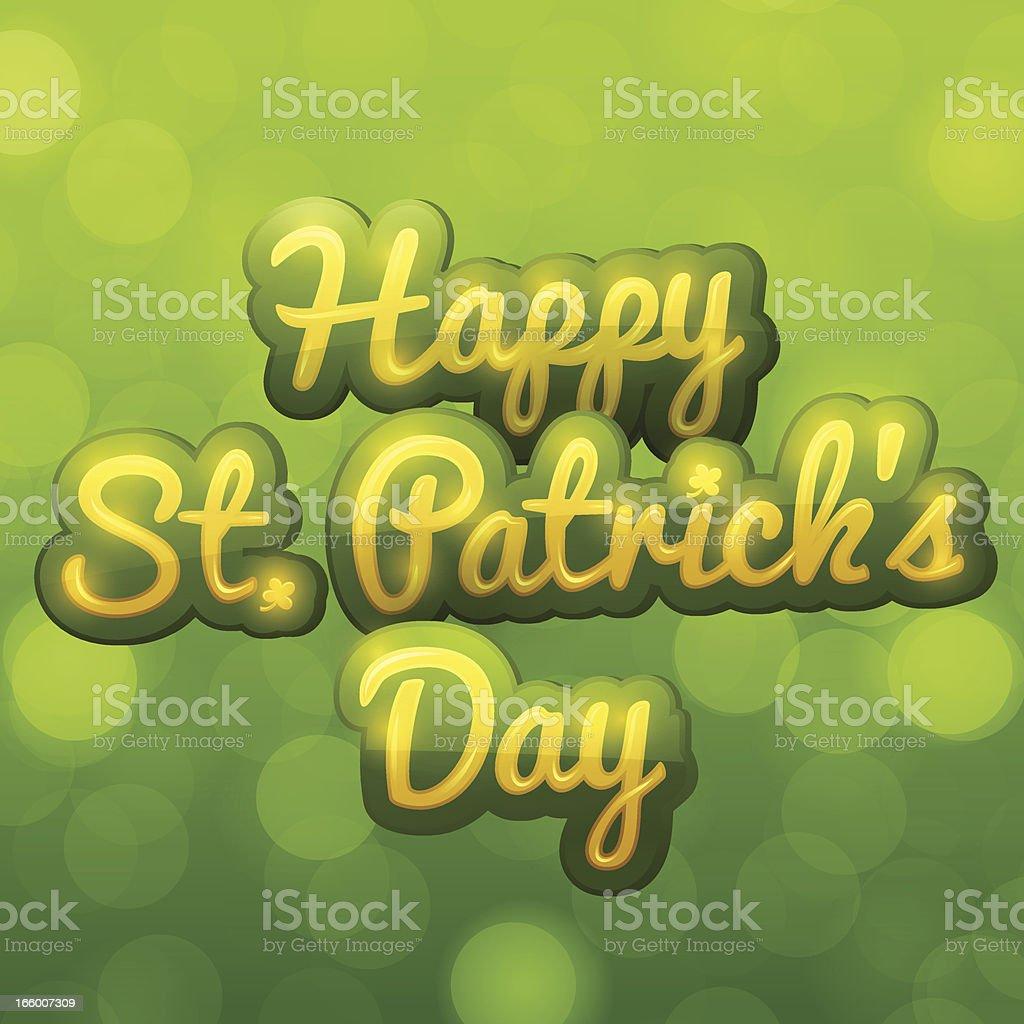 Happy St. Patricks Day royalty-free stock vector art